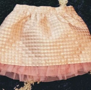 Other - Children's Place Gold & Pink Skirt